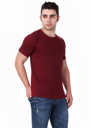 Yellow-Short-Sleeve-Plain-T-Shirt-for-Men-Online-at-Gajari.com-The-Best-T-Shirt-Brand-right-view