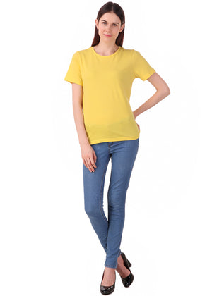 Yellow-Short-Sleeve-Plain-T-Shirt-for-Women-Online-at-Gajari.com-The-Best-T-Shirt-Brand-ffv