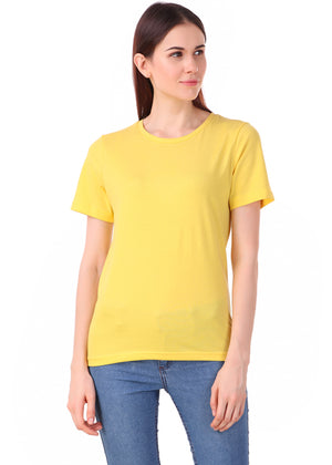 Yellow-Short-Sleeve-Plain-T-Shirt-for-Women-Online-at-Gajari.com-The-Best-T-Shirt-Brand-fv1