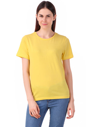 Yellow-Short-Sleeve-Plain-T-Shirt-for-Women-Online-at-Gajari.com-The-Best-T-Shirt-Brand-fv