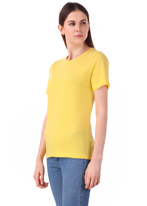 Yellow-Short-Sleeve-Plain-T-Shirt-for-Women-Online-at-Gajari.com-The-Best-T-Shirt-Brand-lv