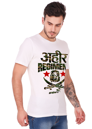 ahir-regiment-t-shirt-Gajari-online-shopping-India-left