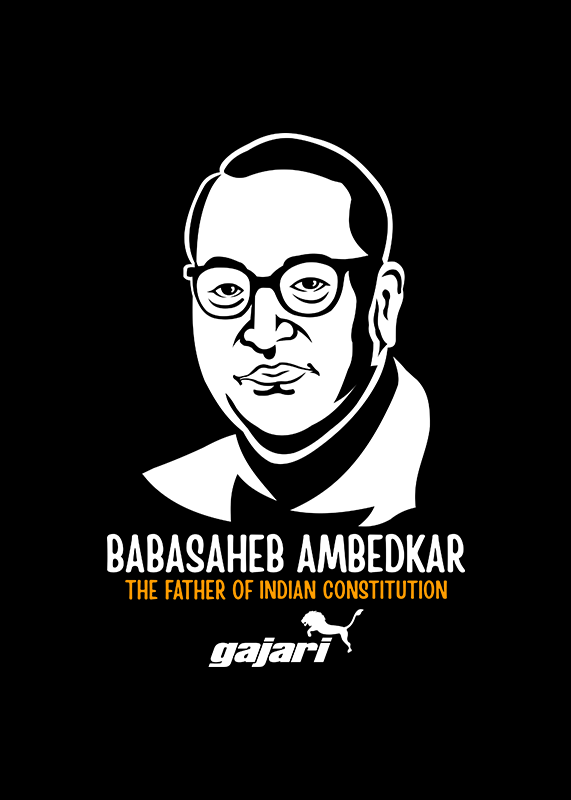 ambedkar-t-shirt-Gajari-Online-Shopping-India-front-view