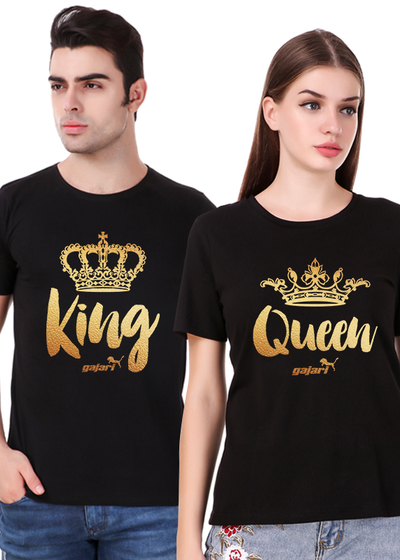 c7f04ded99f1 Couple T Shirts for Couple | King Queen T Shirts for Couples - Gajari.com