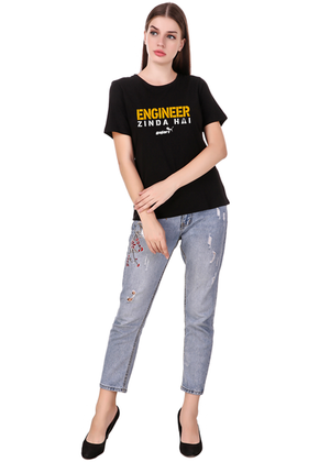 engineer-zinda-hai-engineer-t-shirt-for-women---Gajari-front-full1