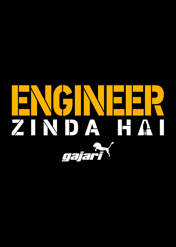 engineer-zinda-hai-engineer-t-shirt-for-women---Gajari-front-view