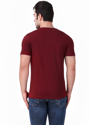 hustle-karo-bhasad-nahi-T-Shirt-for-Men-Gajari-Online-Shopping-India-maroon-back