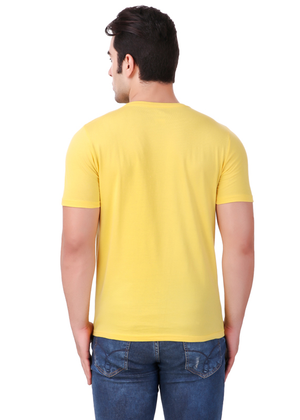 hustle-karo-bhasad-nahi-T-Shirt-for-Men-Gajari-Online-Shopping-India-yellow-back