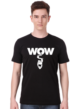 wow-funny-t-shirt-for-men-India-online-shopping-at-Gajari-front