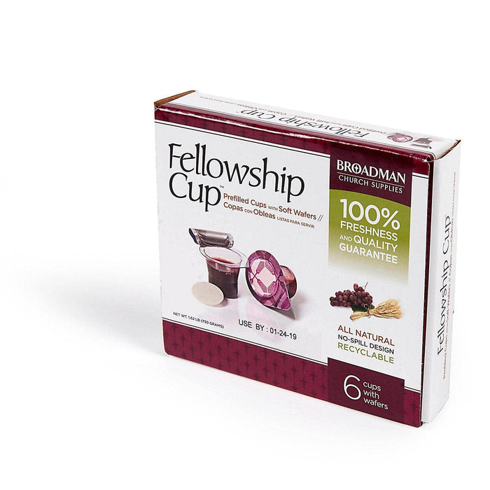 Fellowship Cup ® - prefilled communion cups - juice and wafer - 6 Count Box