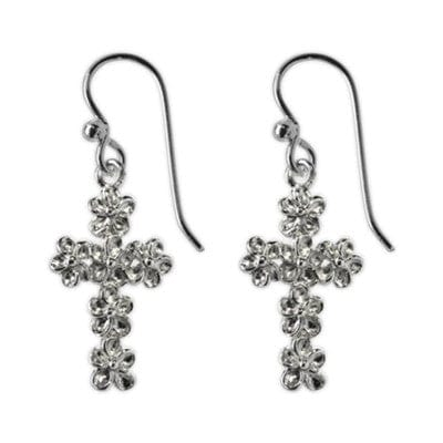 Textured Cross Earrings