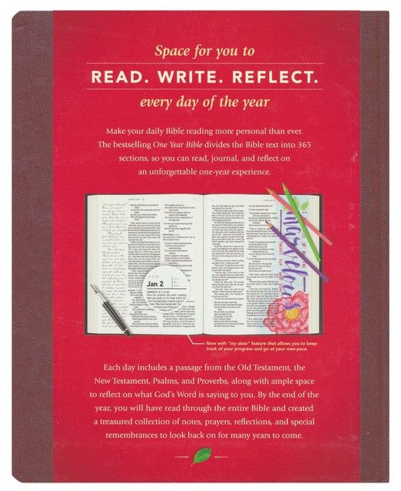NLT One Year Bible Reflections Edition, Hardcover