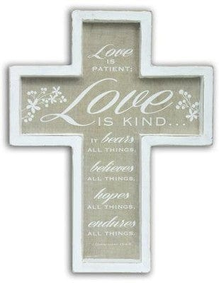 Love is Patient, Love is Kind Wall Cross