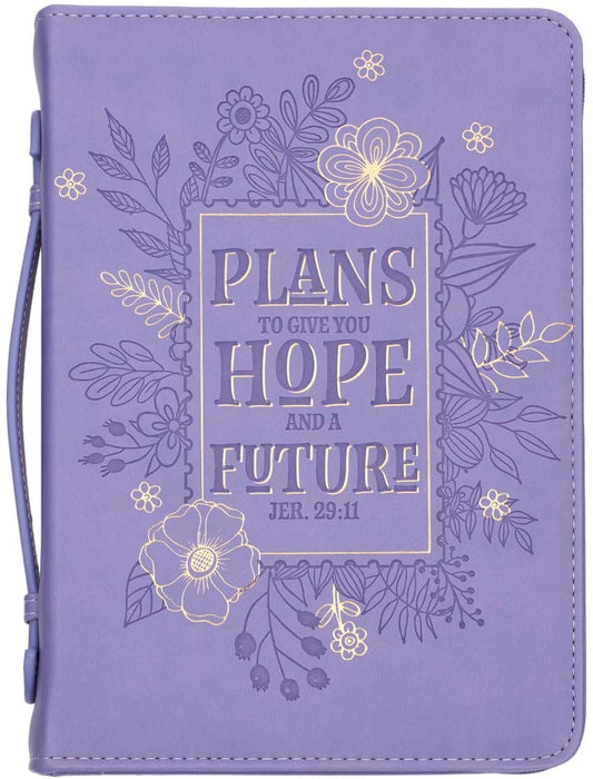 Hope and Future Purple Jeremiah 29:11 Bible Cover