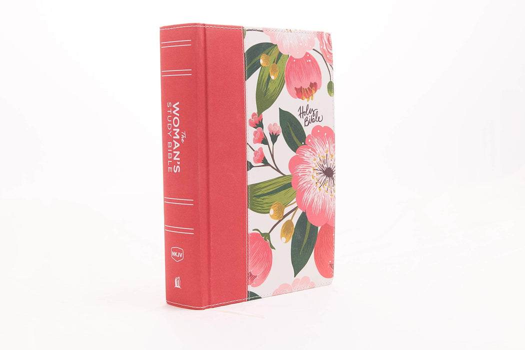 The NKJV, Woman's Study Bible, Cloth over Board, Pink Floral, Red Letter, Full-Color Edition