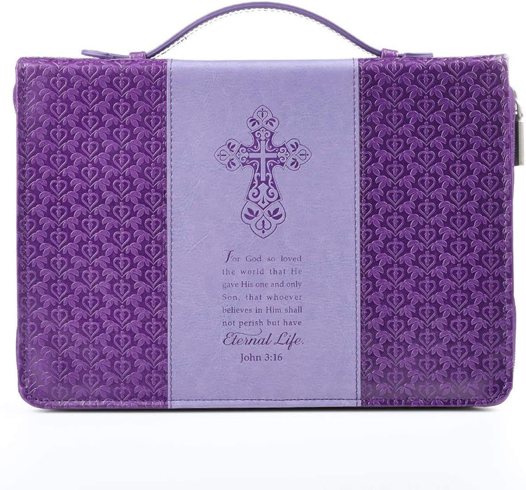 "Purple ""Eternal Life"" Bible / Book Cover - John 3:16"