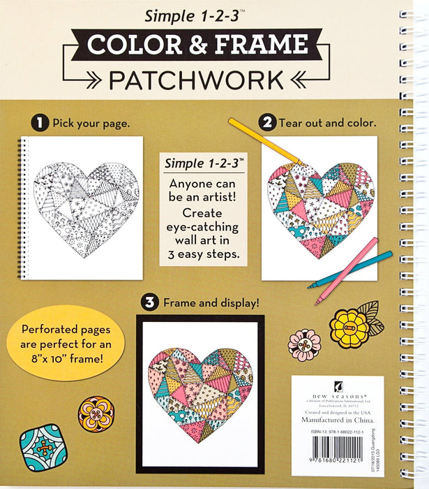 Color & Frame Coloring Book - Patchwork