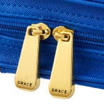 Amazing Grace Blue Faux Leather Purse-style Fashion Bible Cover