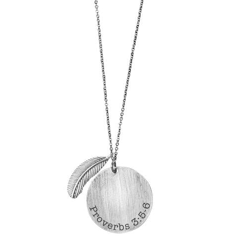 Trust In The Lord Women's Circle Necklace