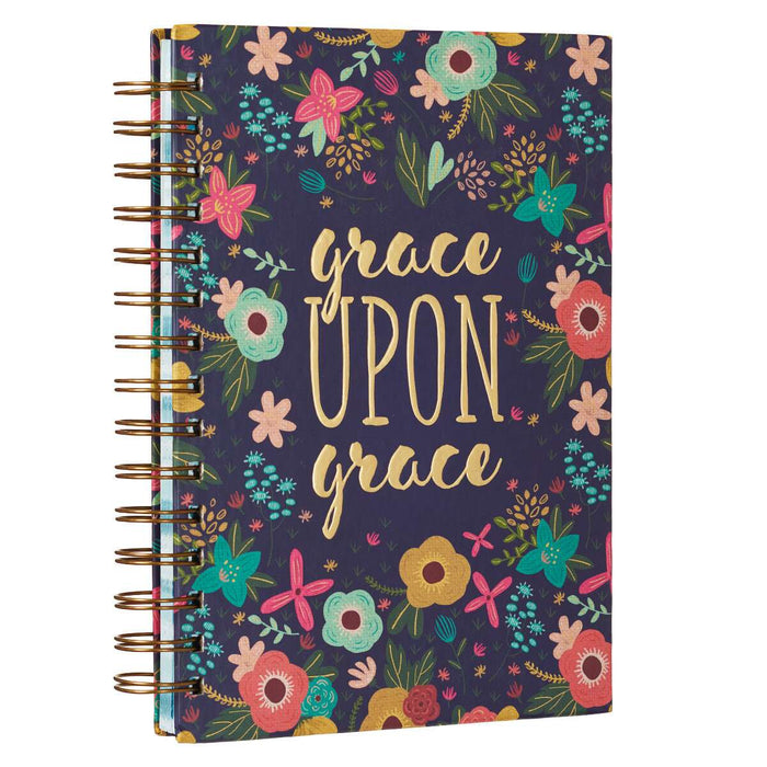 Grace Upon Grace Large Hardcover Wirebound Journal - John 1:16