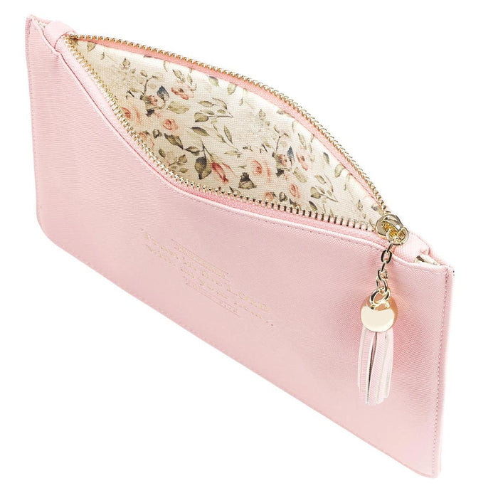 Trust in the Lord LuxLeather Pouch in Blush