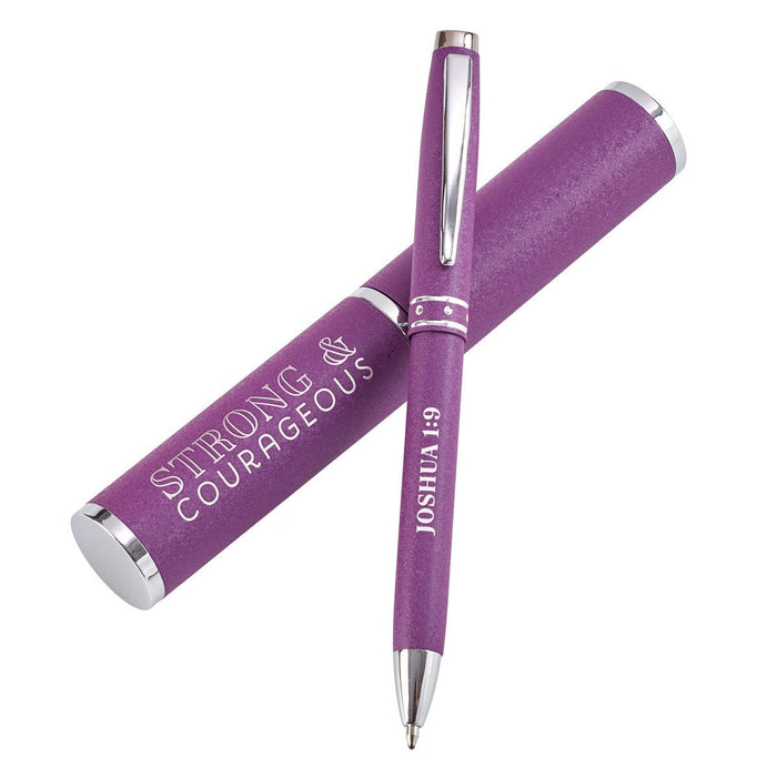Strong & Courageous Purple Gift