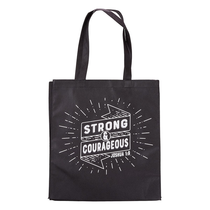 Strong And Courageous Tote Bag