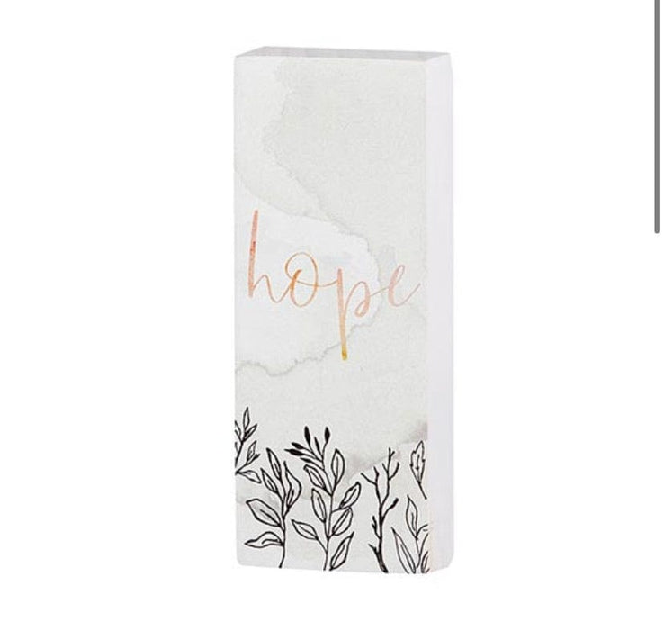 Tabletop décor - Vertical Block - Inspirational - Hope