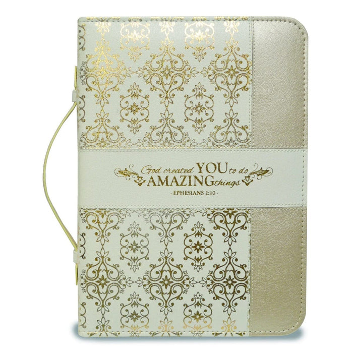 DIVINE DETAILS: BIBLE COVER CREAM AND GOLD AMAZING YOU