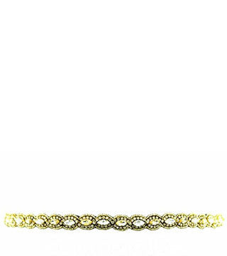 PINK PEWTER GINNY STRETCH HEADBAND (GOLD)