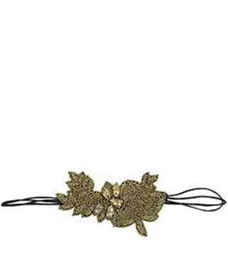 PINK PEWTER GISSELLE STRETCH HEADBAND (GOLD)