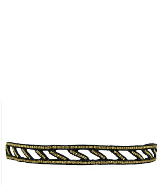 PINK PEWTER NADIA STRETCH HEADBAND (GOLD)