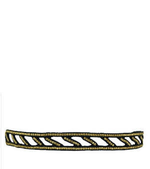 Nadia Stretch Headband (Gold)