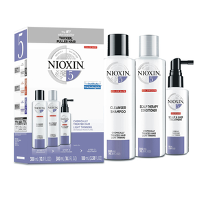 Kit System 5 for Bleached / Chemically Treated Hair with Light Thinning