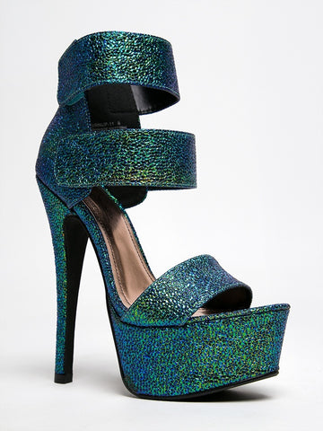 Anne Michelle Turnup-11 - Green Metallic Multi
