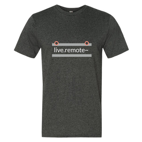 """live.remote~"" Cotton/Poly Short Sleeve T-shirt"