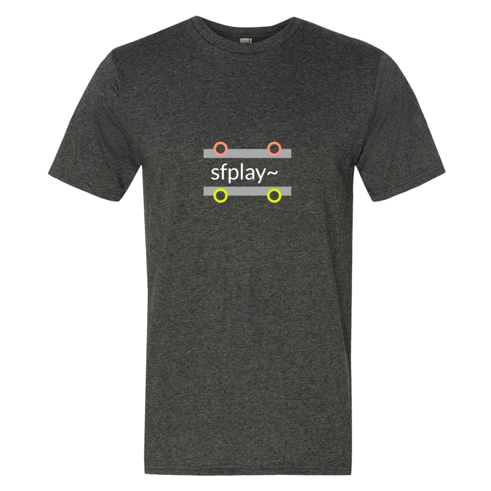 """sfplay~"" Cotton/Poly Short Sleeve T-shirt"