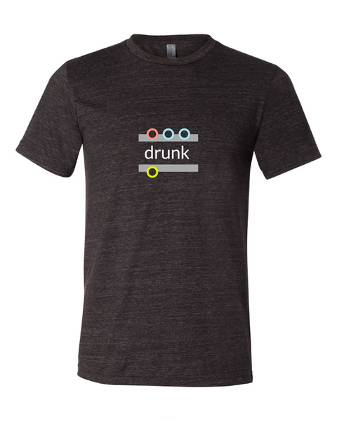 """drunk"" Triblend Short Sleeve T-Shirt"