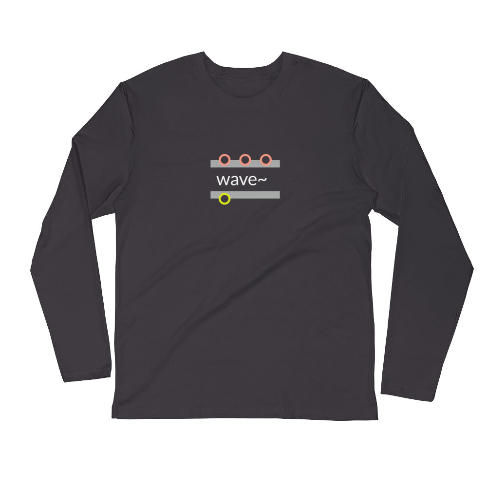 """wave~"" Cotton Long Sleeve T-shirt"