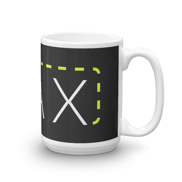"""MAX"" with Patch Cord: On 15oz Mug"