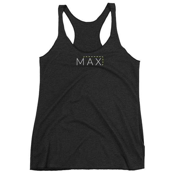 """MAX"" with Patch Cord: On Next Level Brand Triblend Racerback Tank"