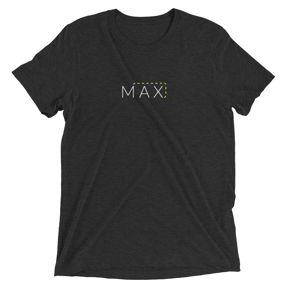 """MAX"" with Patch Cord: On Bella + Canvas Brand Triblend T-Shirts"