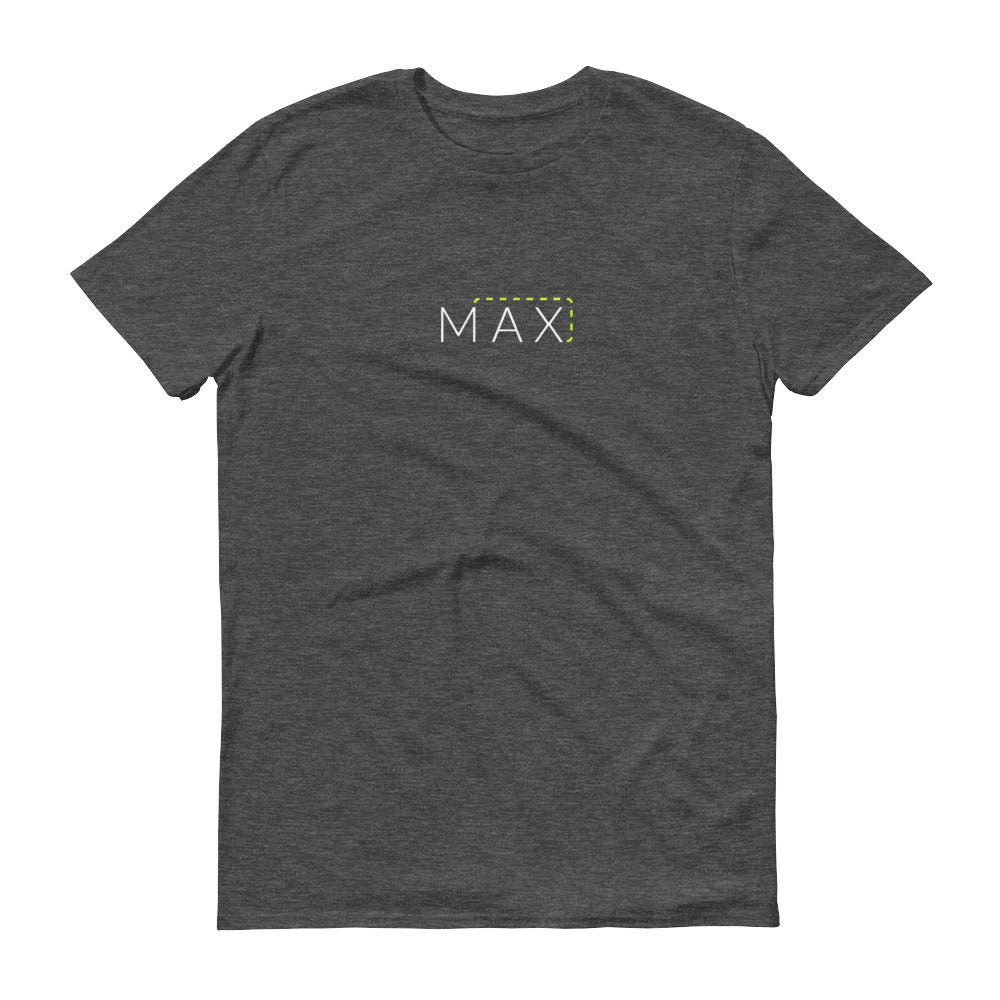 """MAX"" with Patch Cord: On Anvil Brand Cotton/Poly T-Shirts"