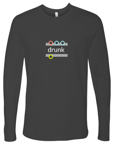 """drunk"" Cotton, Long-Sleeve T-shirt"