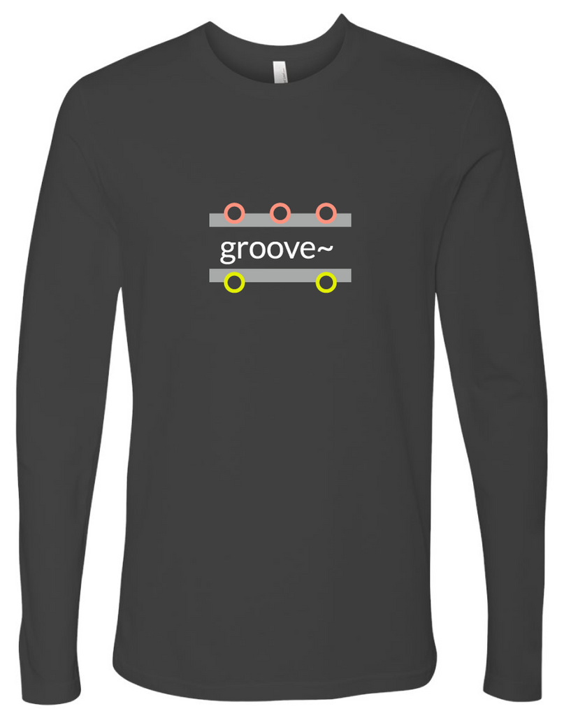 """groove~"" Cotton, Long-Sleeve T-shirt"
