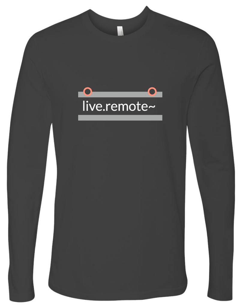 """live.remote~"" Cotton, Long-Sleeve T-shirt"