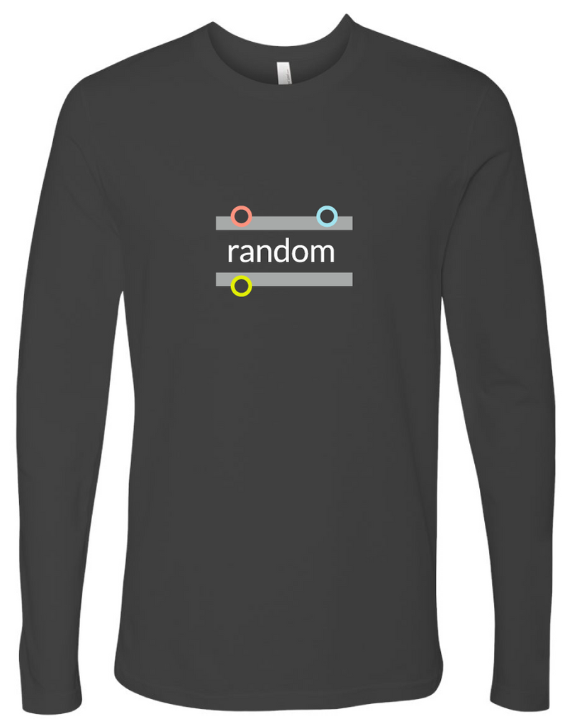 """random"" Cotton Long Sleeve T-shirt"