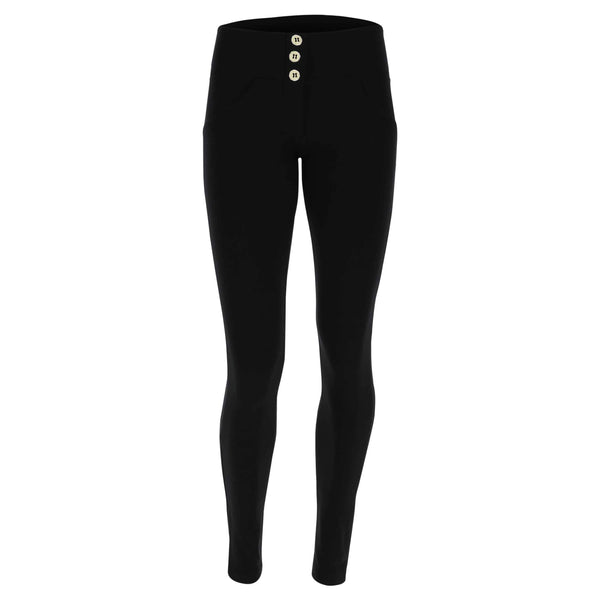 REGULAR HIGH WAIST BLACK WITH 3 BUTTONS