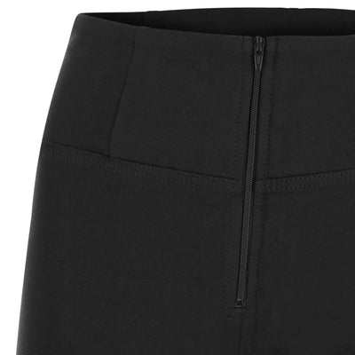 ANKLE LEG HIGH WAIST SKINNY BLACK SELF TONE ZIP