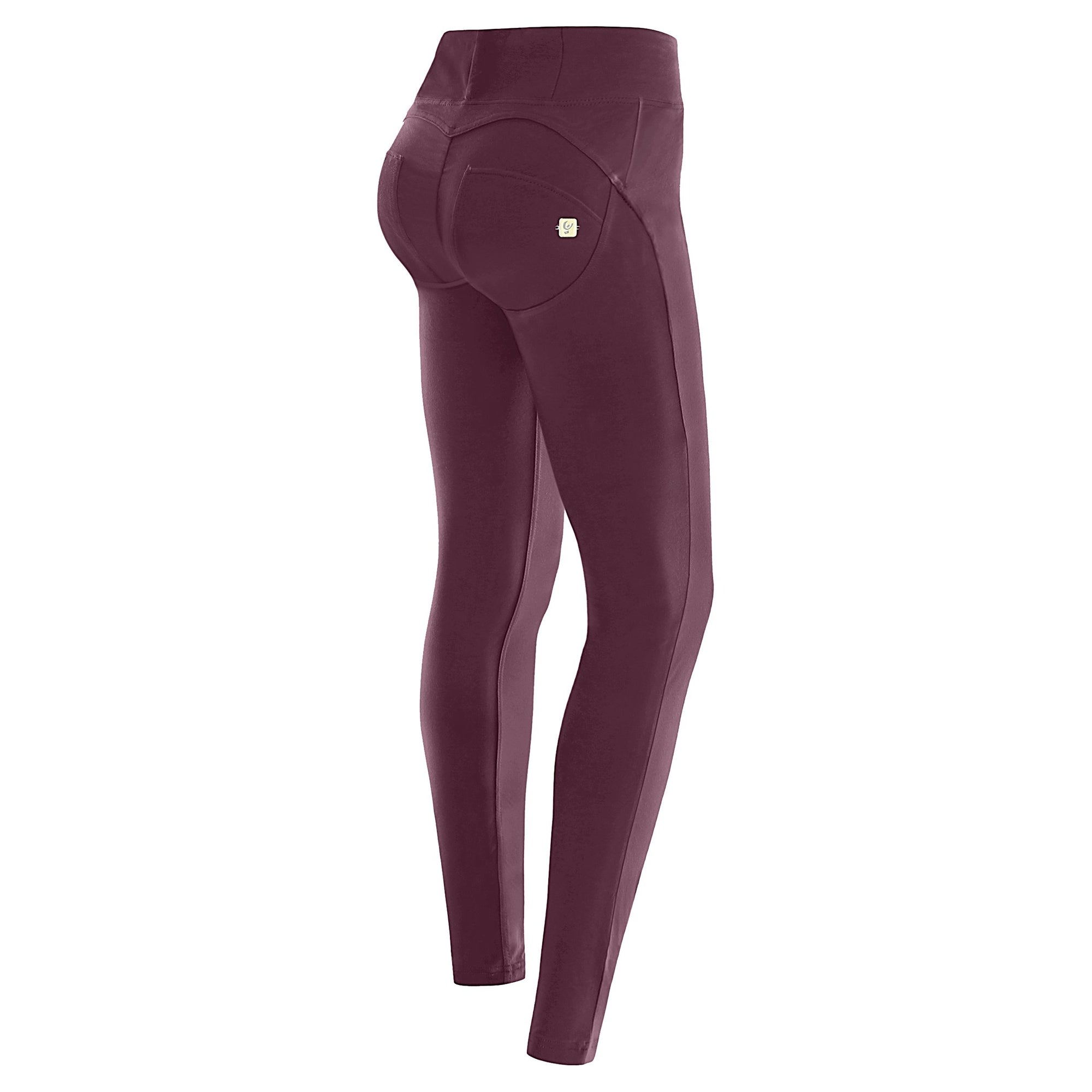 BURGUNDY D.I.W.O.® PRO BEAUTY EFFECT HIGH WAIST SELF TONE ZIP